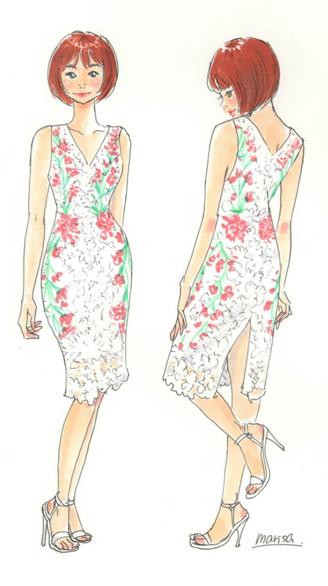 イラストを描いてもらった花咲マリサさんの個展のお知らせ